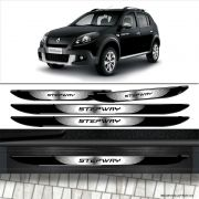 Kit Soleira Da Porta Sandero Stepway 2012 Com Black Over