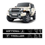Kit Soleira da Porta Troller T4 16/17 Dakar Resinado Cromado
