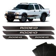 Kit Soleira Diamante S10 Rodeio 2011 Com Protetor de Porta