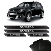 Kit Soleira Diamante Sandero 2007/2014 Com Protetor De Porta