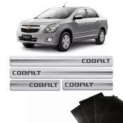 Kit Soleira Escovada Cobalt 2012/2019 Com Protetor de Porta
