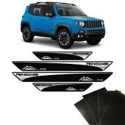 Kit Soleira Jeep Renegade 16/19 E Adesivo Protetor de Porta