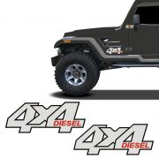 Par De Adesivos 4x4 Diesel Troller 2001/05 Emblema Refletivo