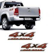 Par De Adesivos Amarok 4x4 Off Road Emblema Volkswagen