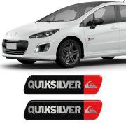 Par De Adesivos Emblema Coluna Quiksilver Peugeot Resinado