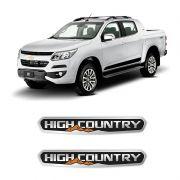 Par de Adesivos Emblema High Country Coluna S10 Resinado