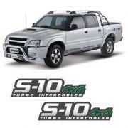 Par De Adesivos S10 2009/2011 Turbo Intercooler 4x4 Verde