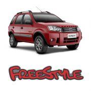Par de Emblemas Adesivo Freestyle Ecosport Vermelho Resinado