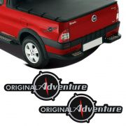 Par De Emblemas Original Adventure Fiat Strada 2008 Adesivo