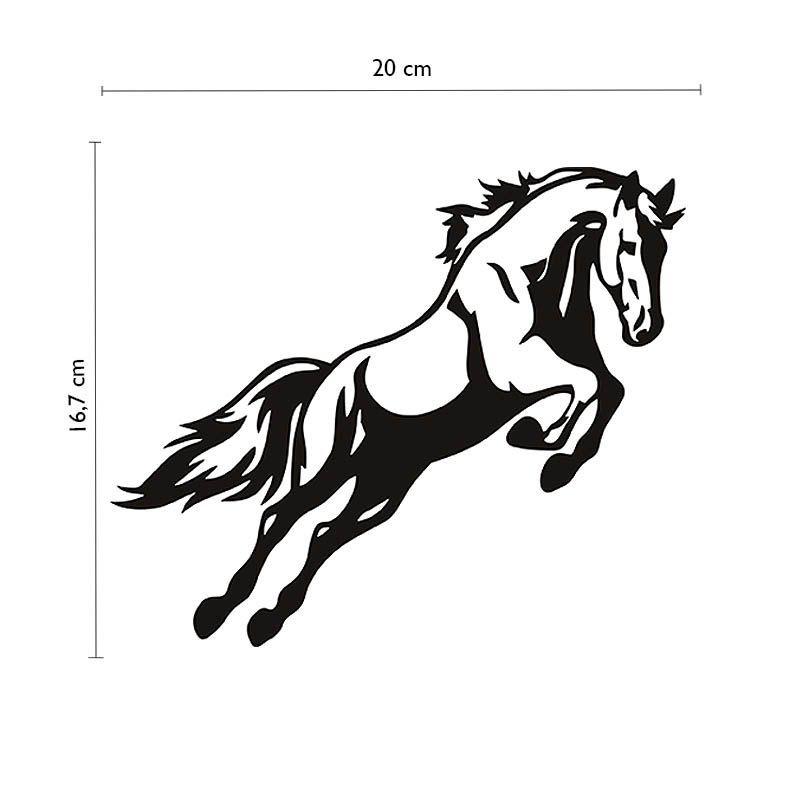 Adesivo Cavalo Saltando Hipismo Carro Caminhonete Decorativo
