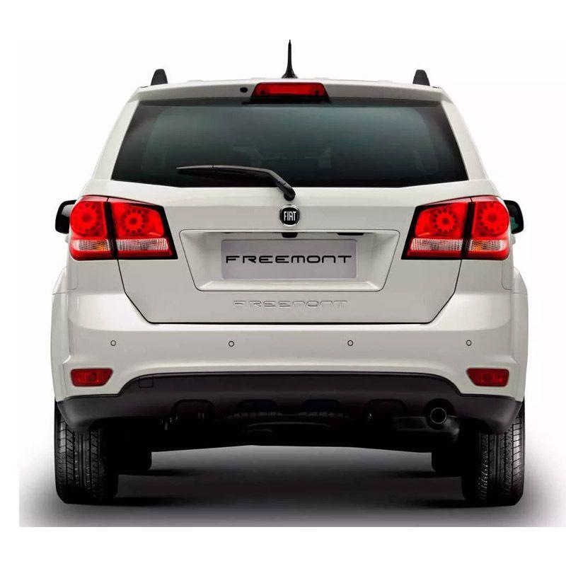 Kit Adesivo Emblema Fiat Black Dianteiro E Traseiro Freemont