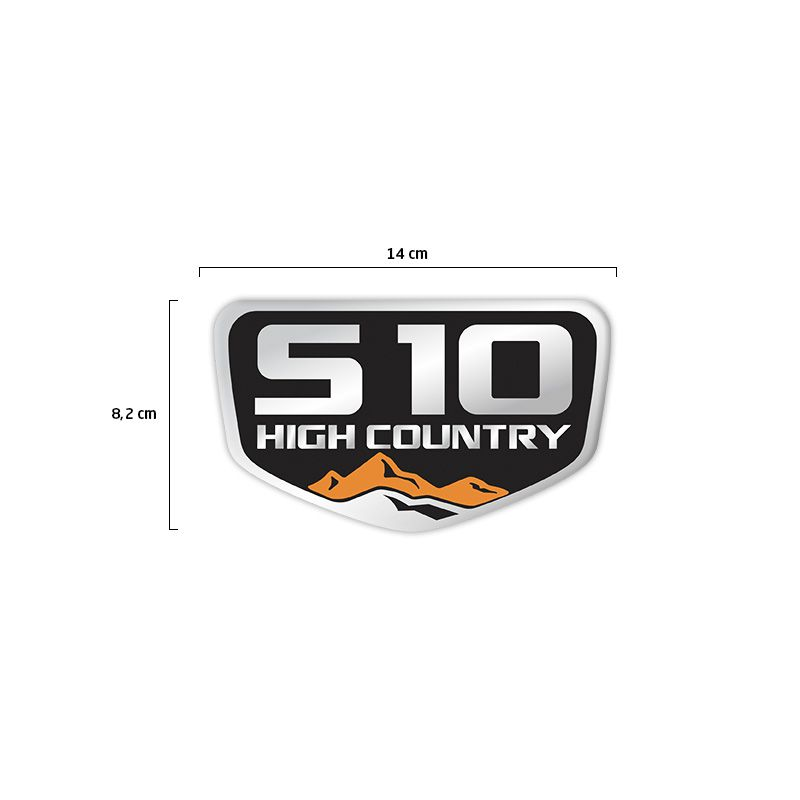 Adesivo Emblema High Country S10 Resinado Tampa Traseira