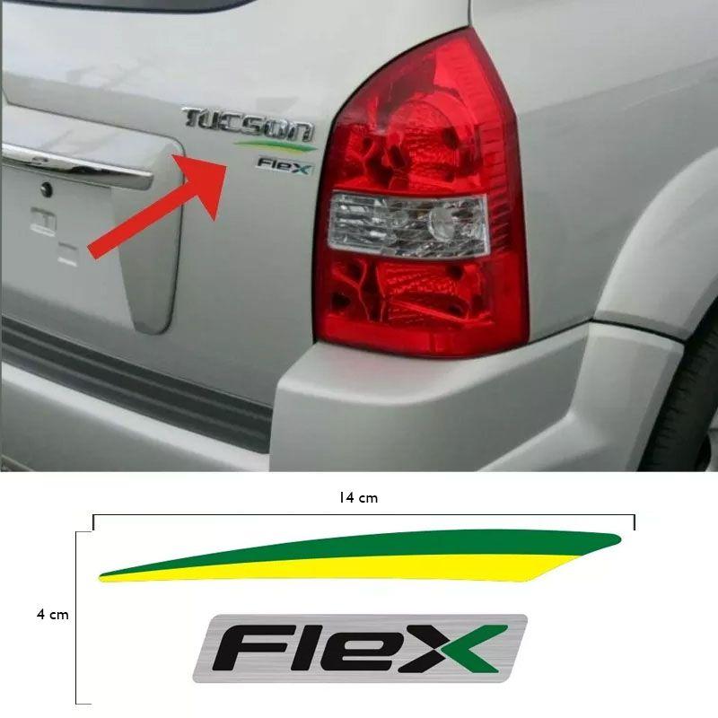 Adesivo Resinado Flex + Bandeira Para Hyundai Tucson Brasil