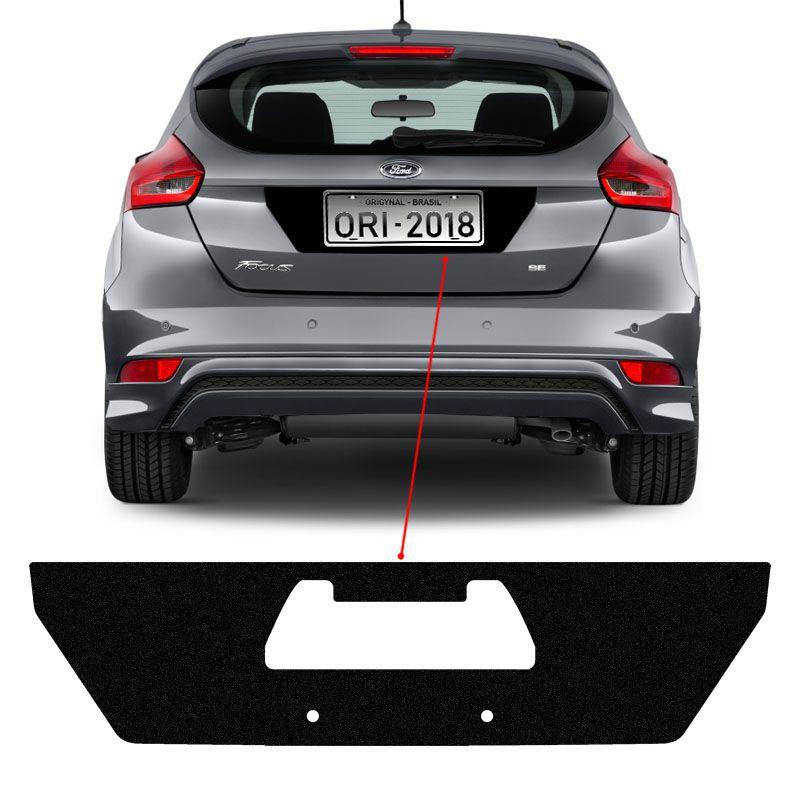 Adesivo Traseiro Fundo De Placa Focus Hatch 2018 Black Over