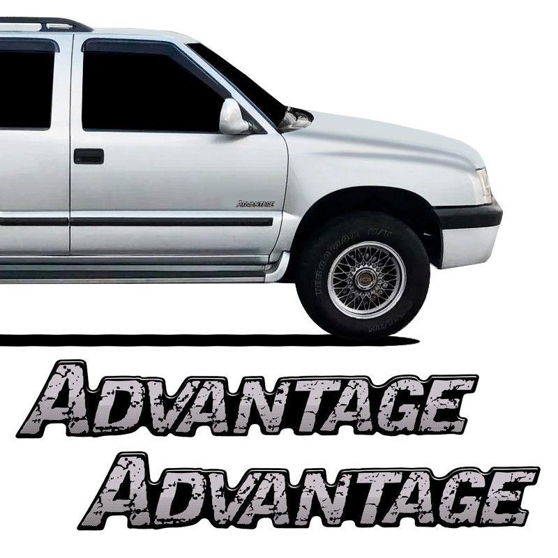 Adesivos Advantage Blazer S10 Emblema Da Porta Resinado