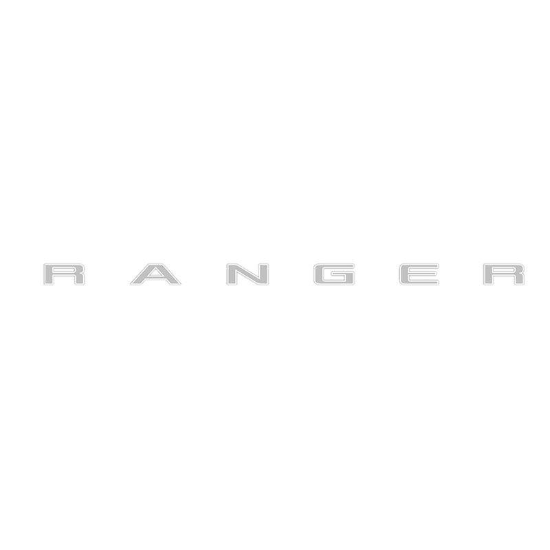 Faixa Adesivo Traseiro Ranger 2013 Em Diante Cinza e Branco
