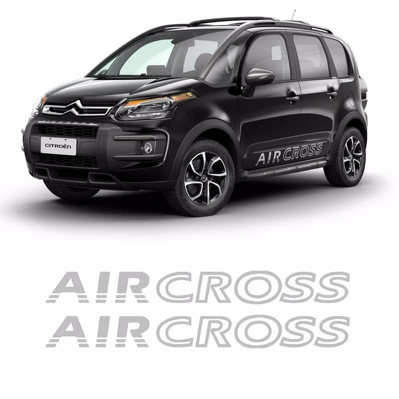 Faixa Lateral Aircross Até 2015 Adesivo Prata Citroen
