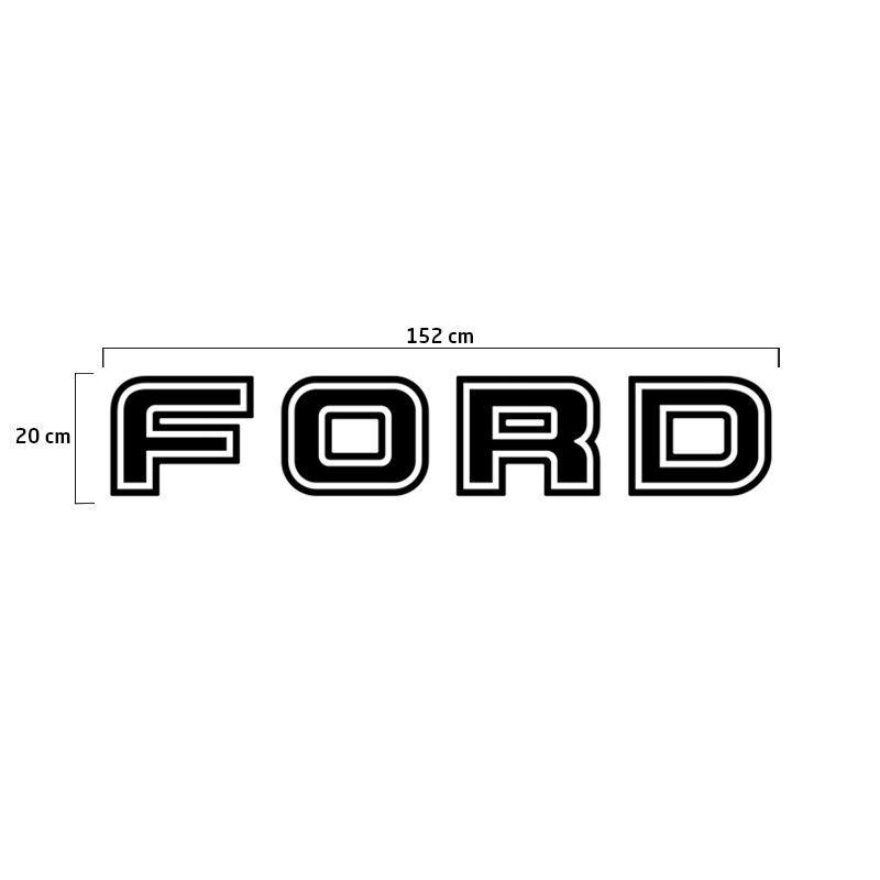 Faixa Traseira Ford F-250 Adesivo Preto + Soleira Protetora