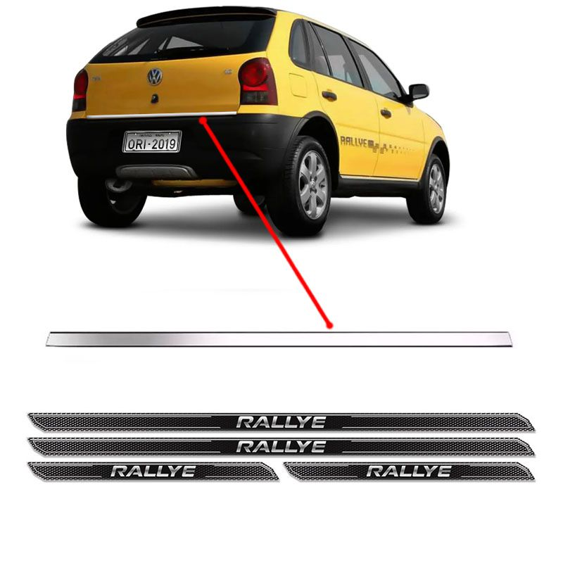 Friso Porta-Malas Gol G4 Rallye + Kit Soleira Protetora