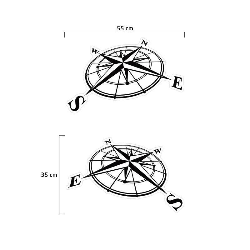 Kit Adesivo Troller 2015 Rosa Dos Ventos Faixa Lateral Preto