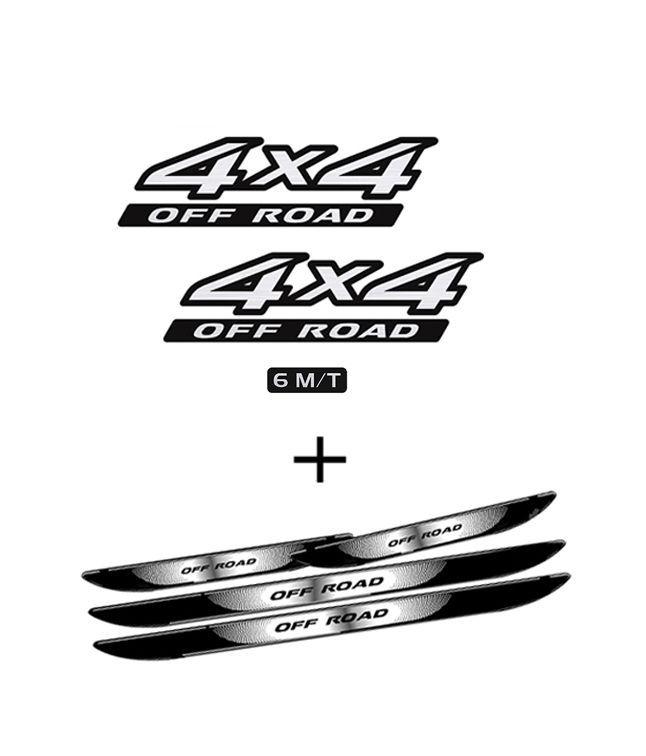 Kit Adesivos 4x4 Off Road Frontier 6m/t + Soleira Black Over