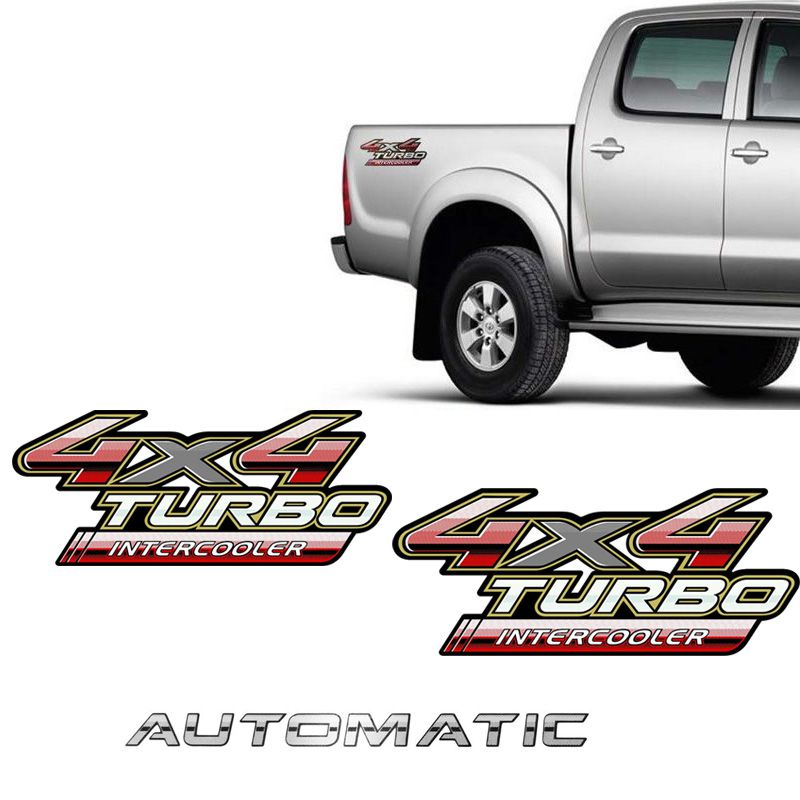 Kit Adesivos 4x4 Turbo Intercooler Hilux 09/12 + Automatic
