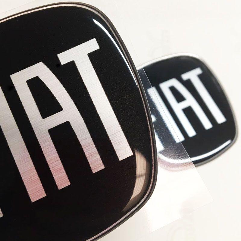 Kit Completo Adesivos Resinados Fiat Black Piano Grand Siena