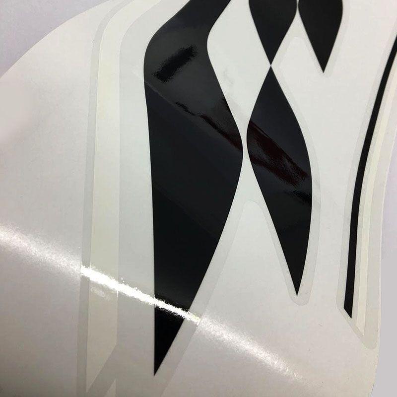 Kit Completo Faixa Onix Effect 2018/19 Adesivo Branco/Preto