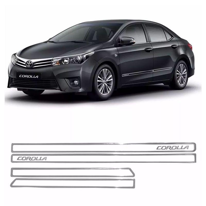 Kit Completo Friso Lateral Dianteiro Traseiro Corolla 2018