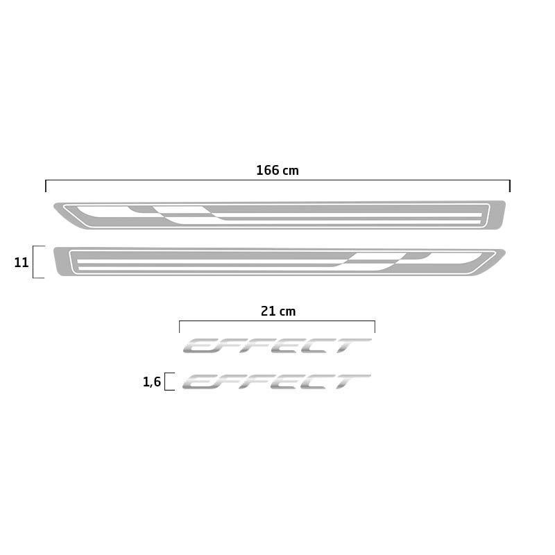 Kit Faixa Prata Agile Effect 2013/2014 + Soleira Protetora