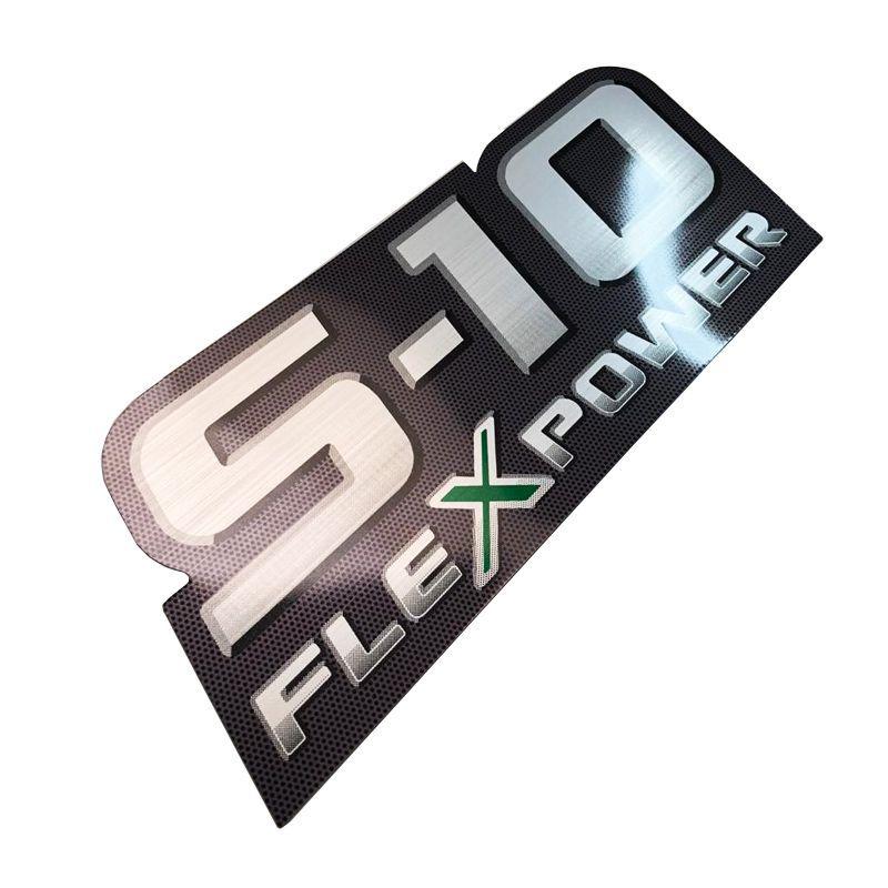 Kit Faixa Preta S10 Chevrolet 2009/2011 + Flex Power Verde