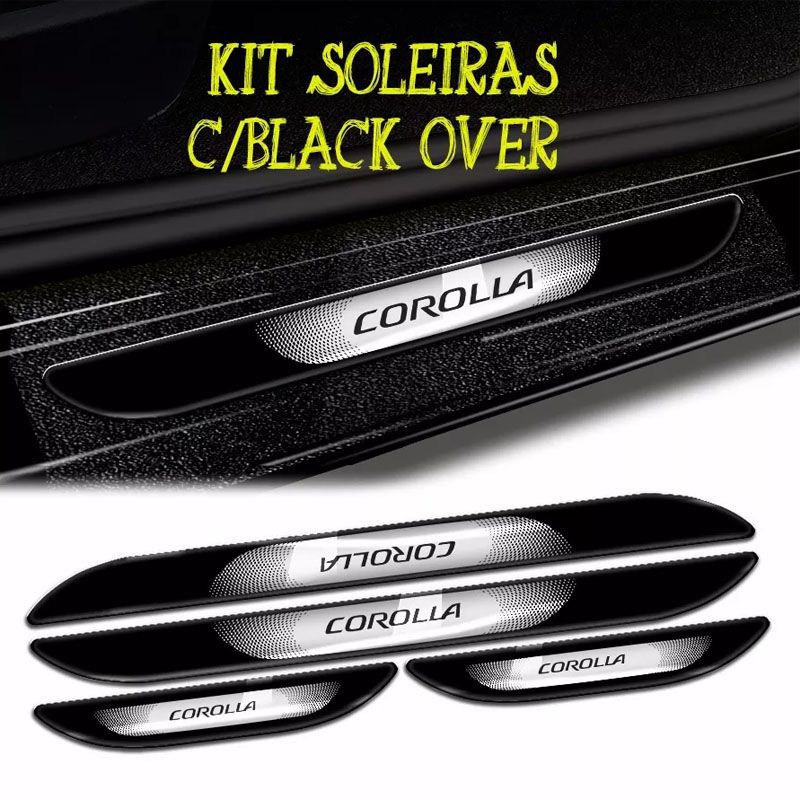 Kit Friso Lateral Corolla + Soleira Da Porta Com Black Over