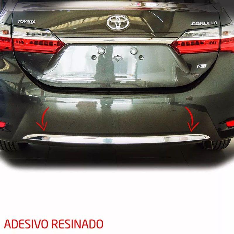 Kit Friso Lateral + Parachoque Traseiro Corolla 2014/
