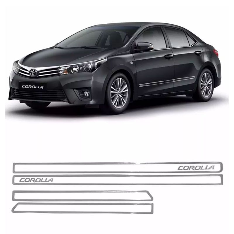 Kit Friso Lateral Tras Diant Corolla 18 + Soleira Black Over