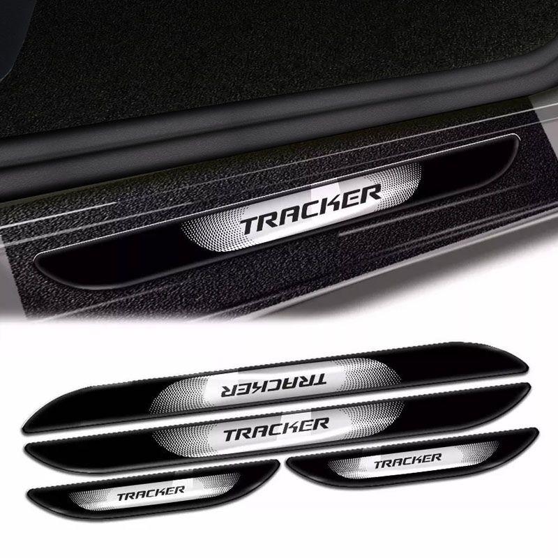 Kit Soleira Da Porta Tracker Com Black Over Resinado