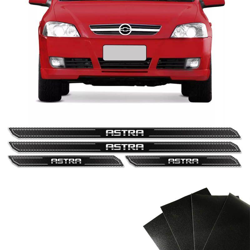 Kit Soleira Diamante Astra Hatch Sedan Com Protetor De Porta