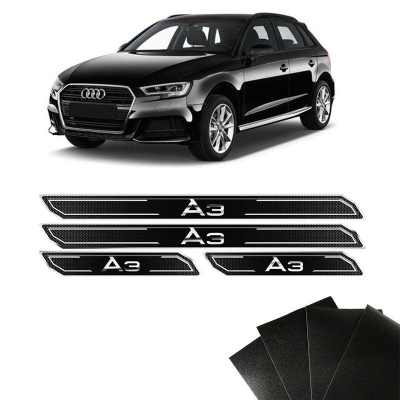 Kit Soleira Diamante Audi A3 Resinada Com Protetor De Porta