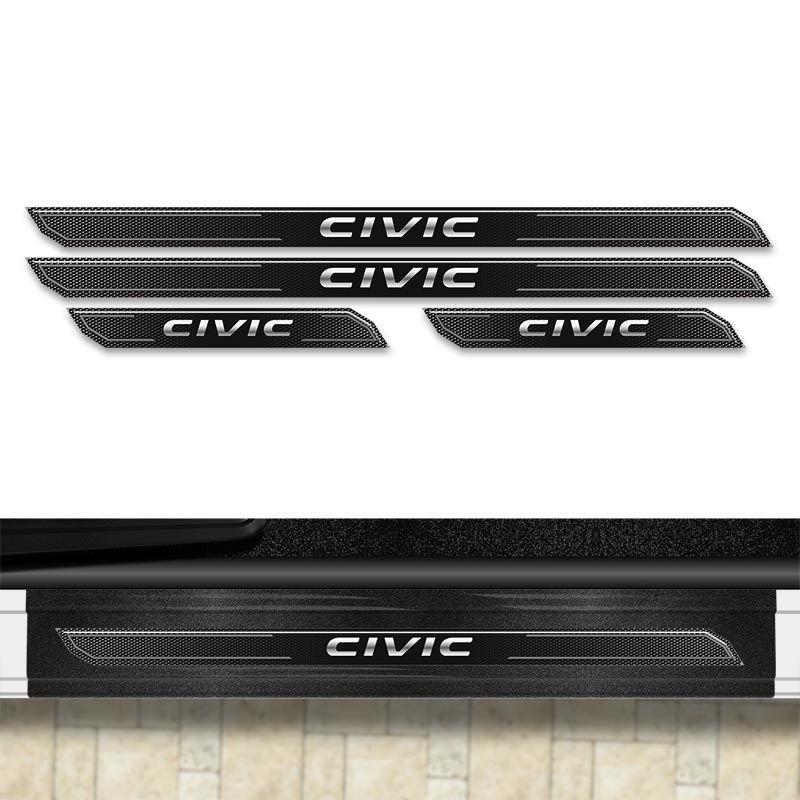 Kit Soleira Diamante Civic G10 16/18 Com Protetor De Porta