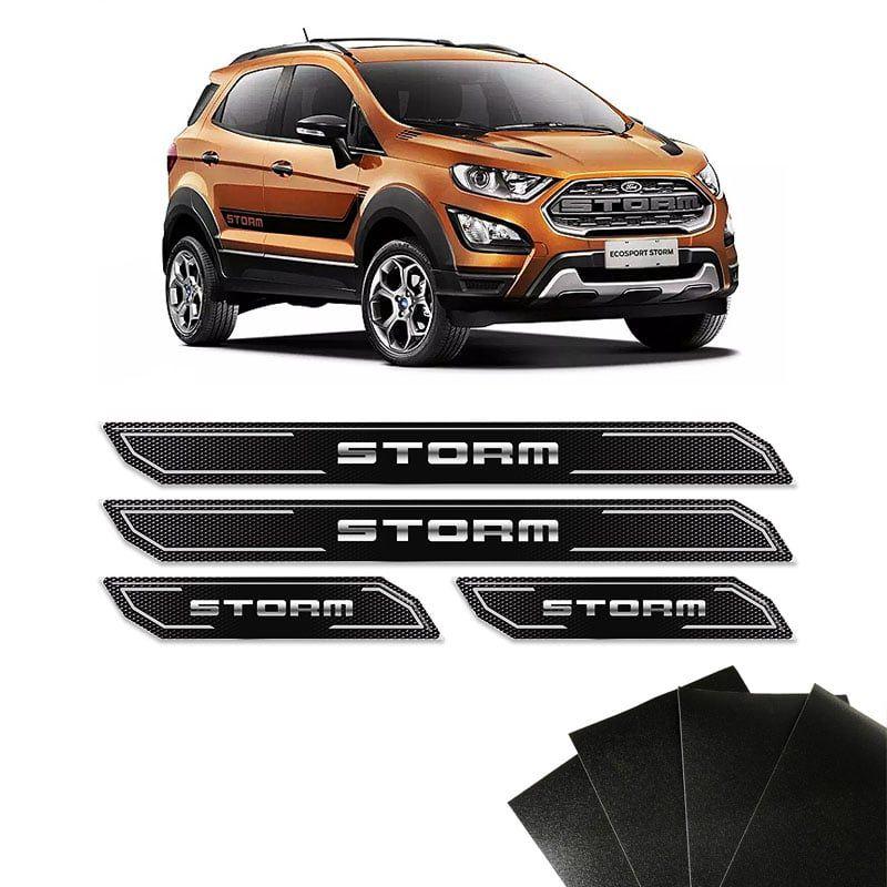 Kit Soleira Diamante Ecosport Storm Com Protetor de Porta