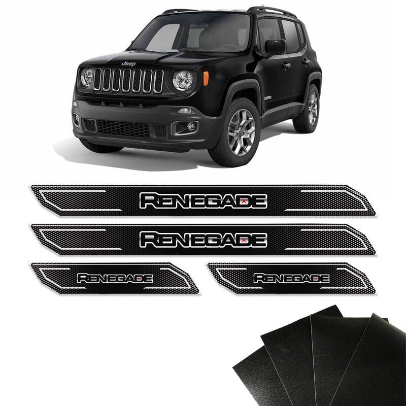 Kit Soleira Diamante Jeep Renegade 16/18 E Protetor de Porta
