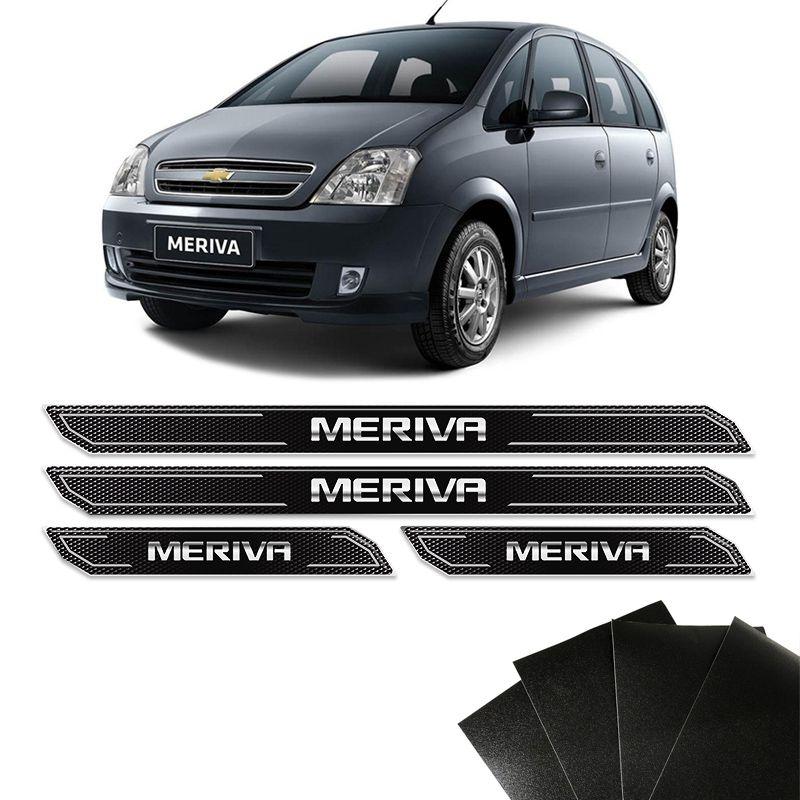 Kit Soleira Diamante Meriva 2003/2012 Com Protetor De Porta