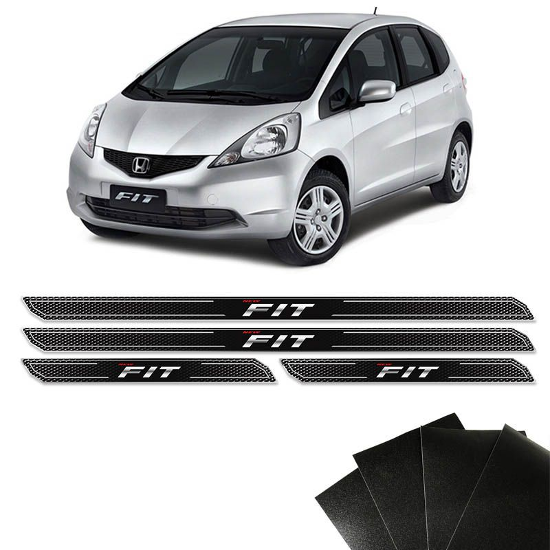 Kit Soleira Diamante New Fit 2009/2014 Com Protetor de Porta