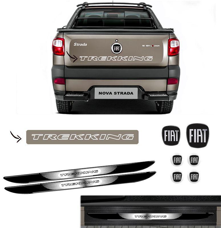 Kit Strada Trekking Branco + Emblemas + Soleira C Black Over