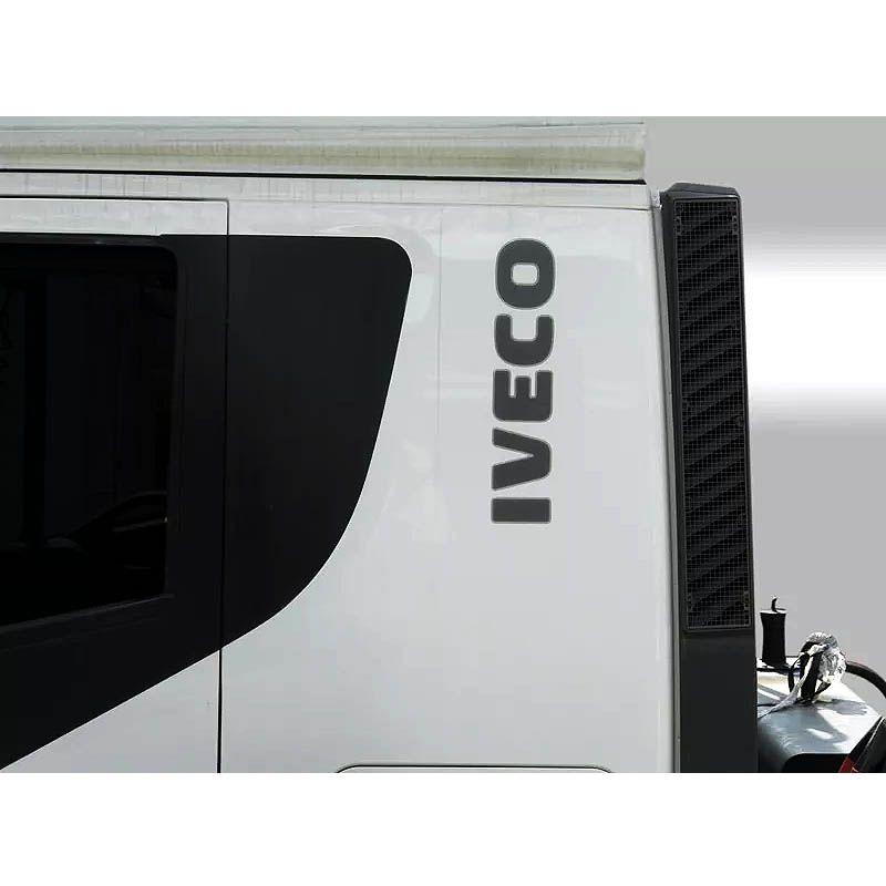 Par de Emblemas Iveco Stralis 2010 Adesivo Resinado Lateral
