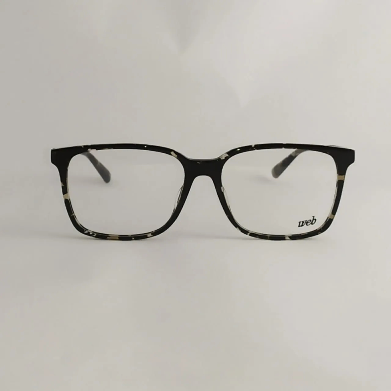 Armação de óculos de grau unissex Preto