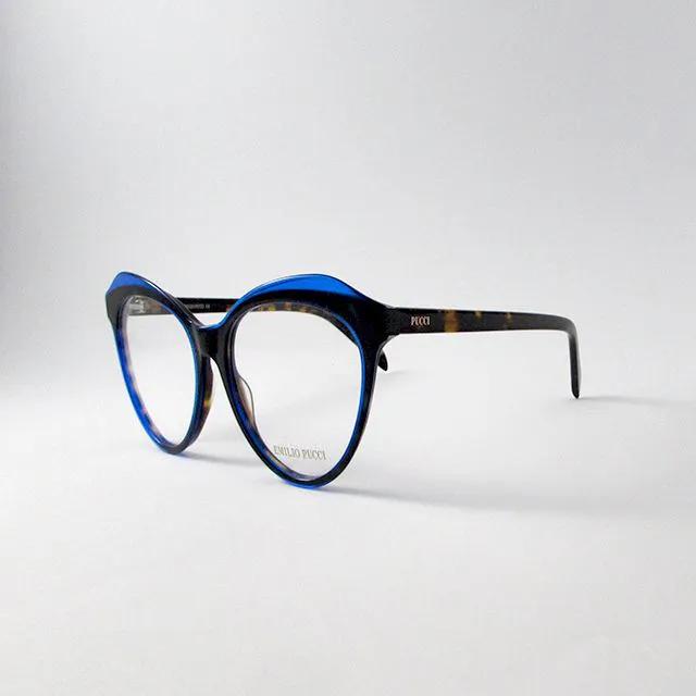 Armação Emillio Pucci - Preto e azul bic