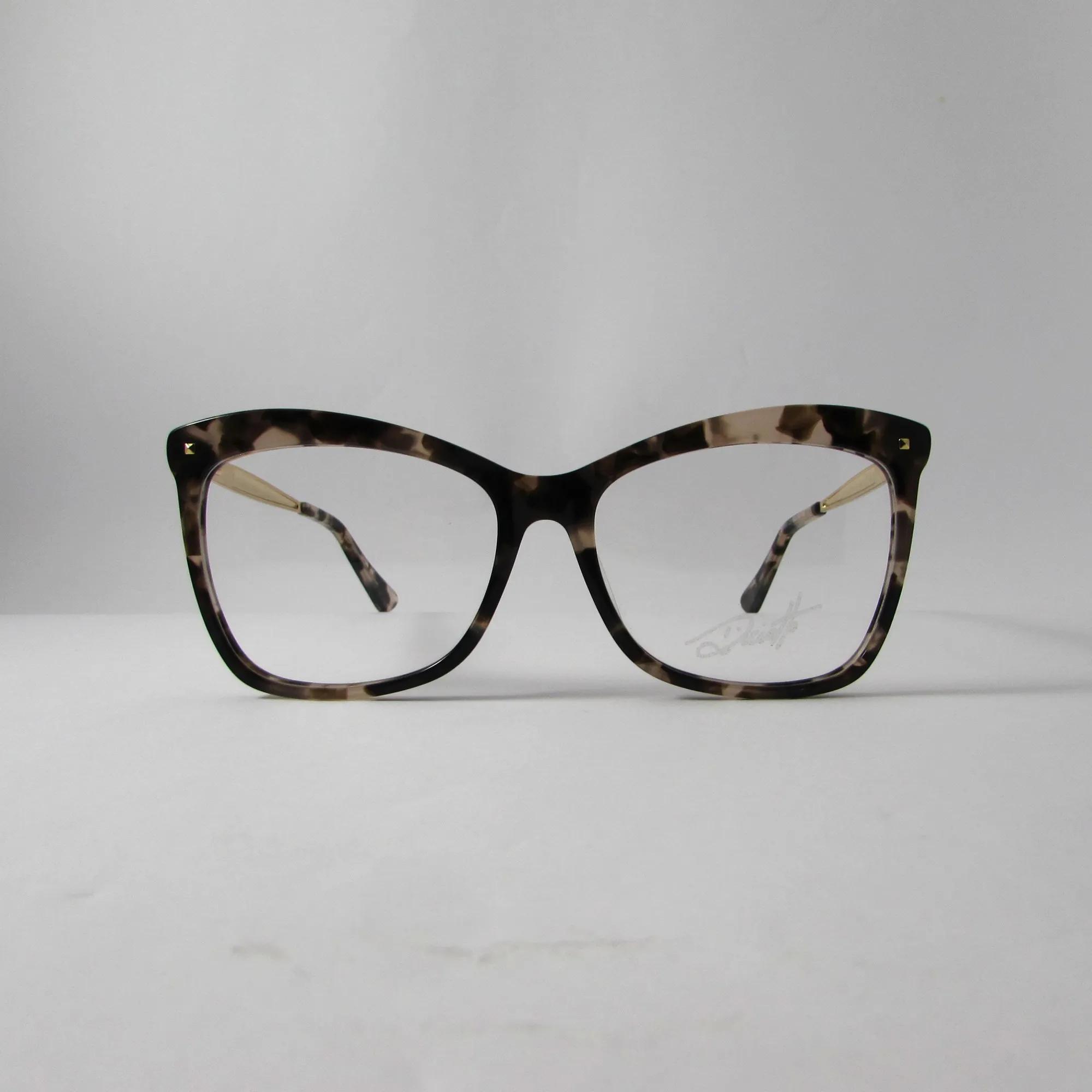 Armação óculos de grau feminino- Marrom Mármore