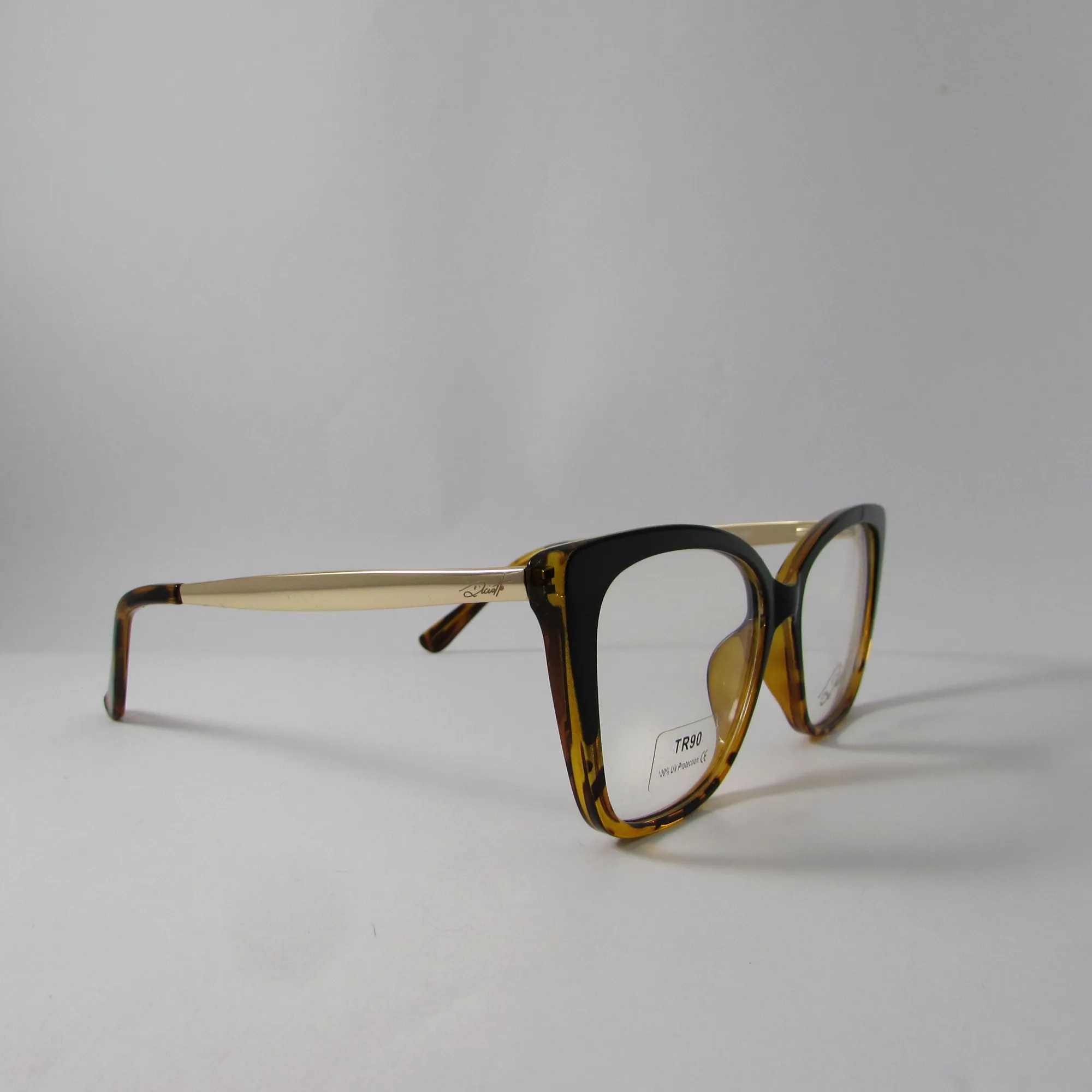 Armação óculos de grau feminino- Preto listrado
