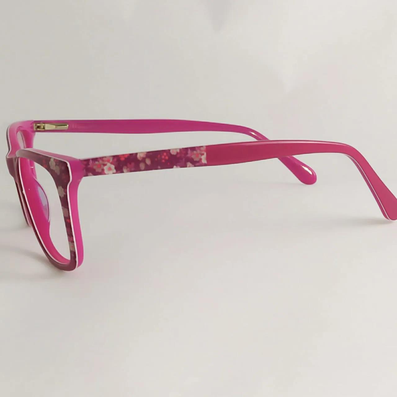 Armação para óculos de grau Infantil- Rosa Floral