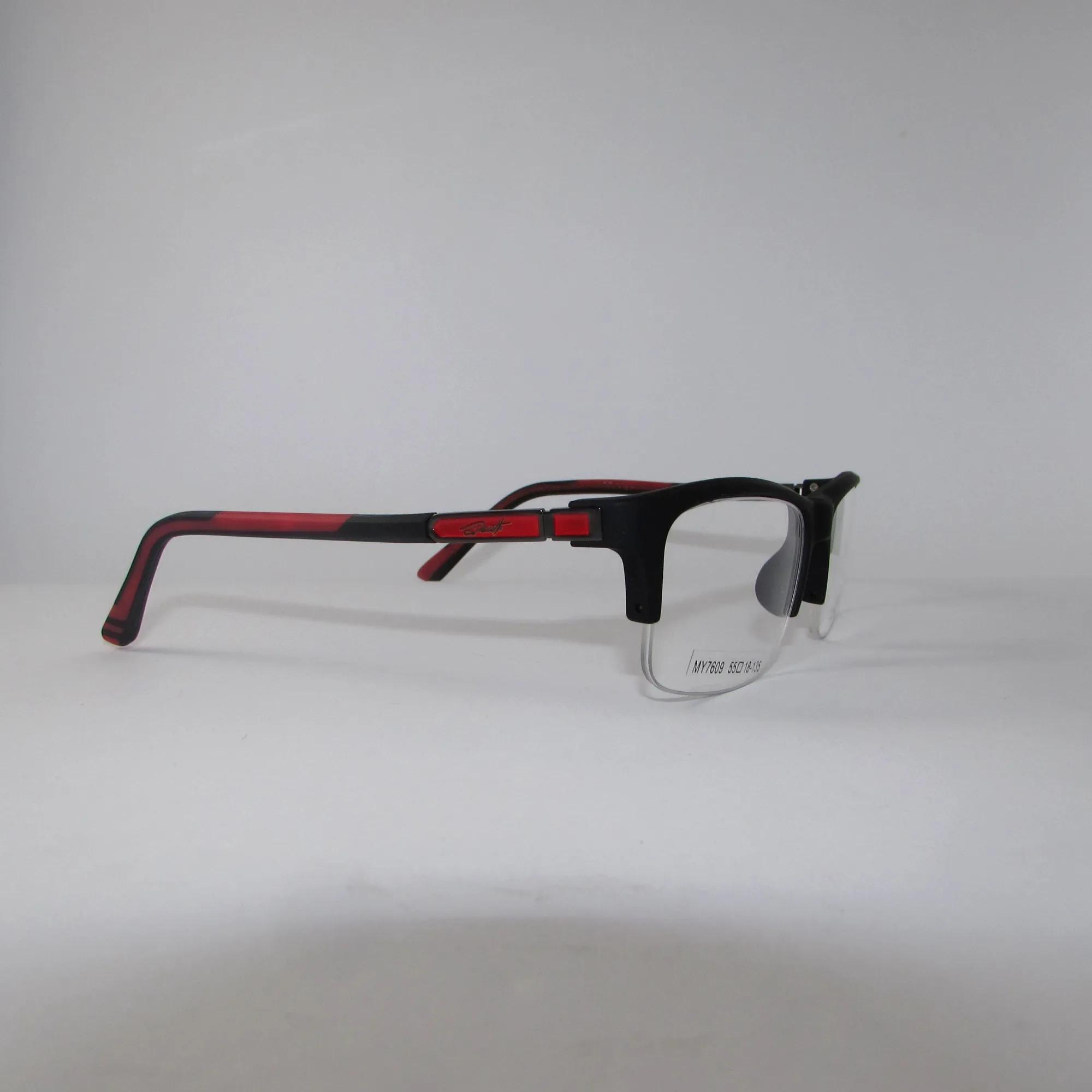 Armação para óculos de grau masculino - Preto e vermelho
